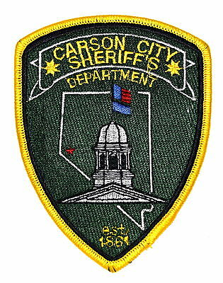 CARSON CITY NEVADA NV Sheriff Police Patch CAPITAL CITY CAPITOL DOME ~