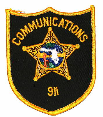 FLORIDA - COMMUNICATIONS 911 - FL  Sheriff Police Patch STATE SEAL INDIAN ~