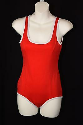 Vintage One Piece Red Bathing Suit Dead Stock New 60's Sears Sz.14