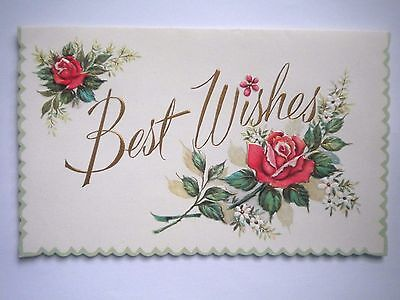 "A Sunshine Card ~ VINTAGE EMBOSSED ""BEST WISHES"" GET WELL GREETING CARD"