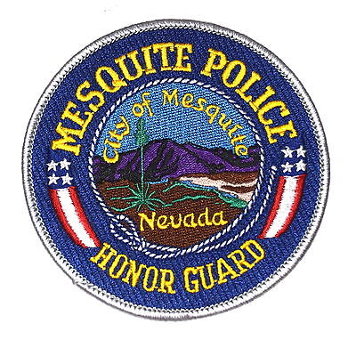 MESQUITE - HONOR GUARD - NEVADA NV Police Sheriff Patch MOUNTAIN CACTUS ~