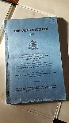 RCMP 1945 RCMP Police Schooner St Roch Report First Edition