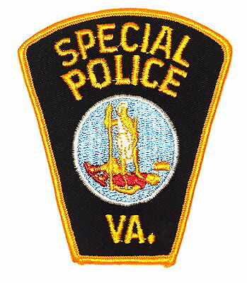 VIRGINIA - SPECIAL POLICE - VA Police Sheriff Patch TOMBSTONE VINTAGE OLD MESH ~