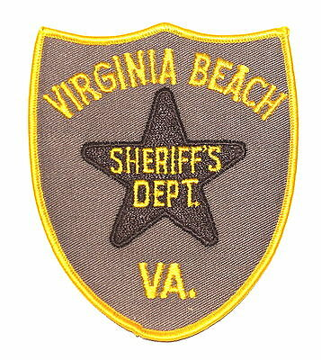 VIRGINIA BEACH VA Police Sheriff Patch BROWN STAR OLD SHERIFF ~