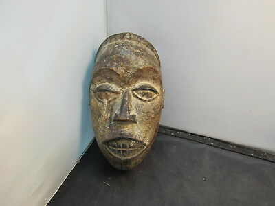 African Tribal Art Tribe Primitive Carved & Painted Wood Mask