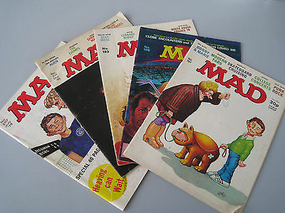 VINTAGE Collection of FIVE (5) x MAD Comics