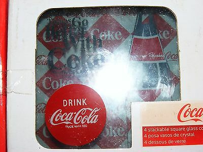 glass coca cola coasters free shipping