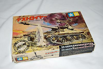 1963 Tamiya Mokei US Army T92 Destroyer 1/55 Model kit sealed parts + motor