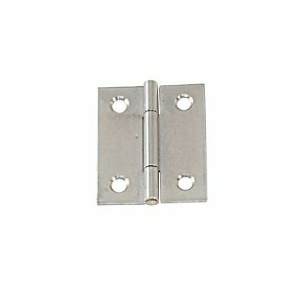 Hinge Semi Wide Stainless Steel Satin Finish 50 x 39 x 1.1mm LINDEMANN