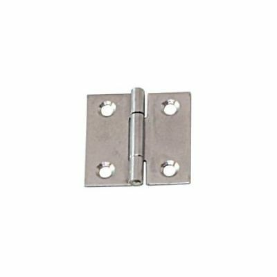 Angular Hinge Stainless Steel Satin Finish 50 x 50 x 1.0mm LINDEMANN