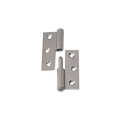 Rolled Hinge Stainless Steel Straight Right 50 x 40 x 1.5mm LINDEMANN