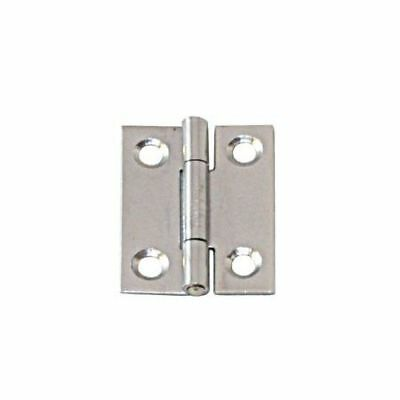 Narrow Hinge Stainless Steel Satin Finish 100x 52 x 1.5mm LINDEMANN