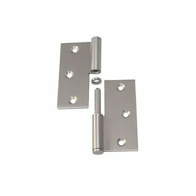 Rolled Door Hinge Stainless Steel Straight Right 90x90mm LINDEMANN