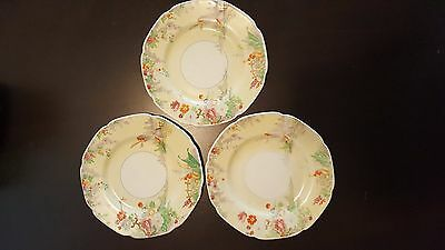 3 - Grindley Tunstall England The Old Mill Saucer Plate flour mill flowers