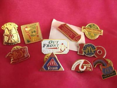 Lot of 10 McDONALD'S PINS from the 1990s in EXCELLENT CONDITION