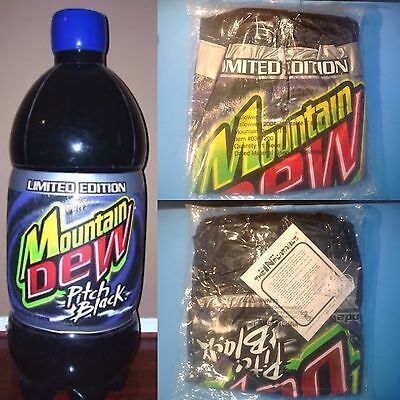 RARE 2004 Mountain Dew PITCH BLACK 4 Ft Inflatable Bottle Still Sealed