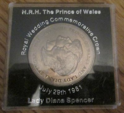 Royal Wedding Commemorative Crown Lady Diana Spencer Coin 1981