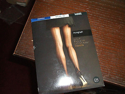 1940's vintage style seamed tights natural tan Medium, LAND GIRL, TEA DANCE M&S
