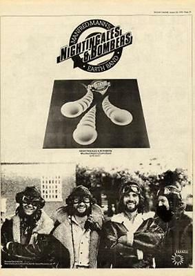 Manfred Mann's Earthband 1975 UK Nightingales & Bombers record advert MM-FGYU