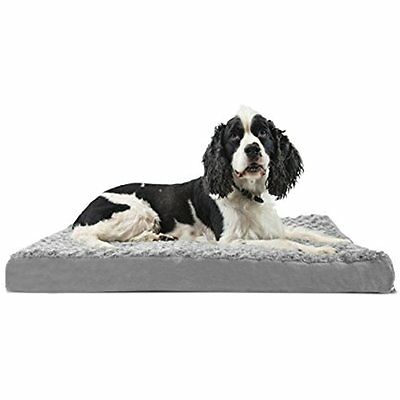Furhaven Orthopedic Mattress Pet Bed, Large, Gray, For Dogs And Cats