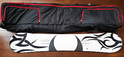 Pathron Carbon Silver 2014 159cm Tribal White Custom Paint Snowboard Bag Bundle