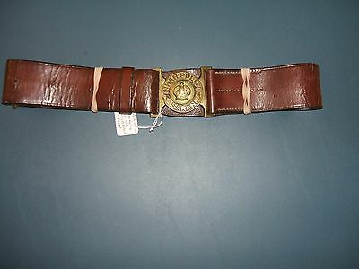 British/India WWII leather belt & buckle