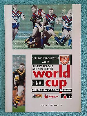 1992 - RUGBY LEAGUE WORLD CUP FINAL PROGRAMME - AUSTRALIA v GREAT BRITAIN