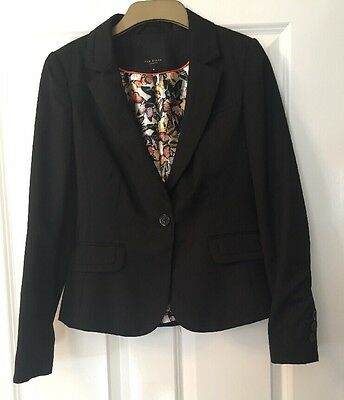 Ladies Ted Baker Black Skirt Suit - Size 2/10 - Fitted