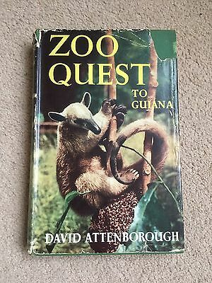 SIGNED DAVID ATTENBOROUGH Zoo Quest to Guiana 1st Ed. HBK (1956, His First Book)