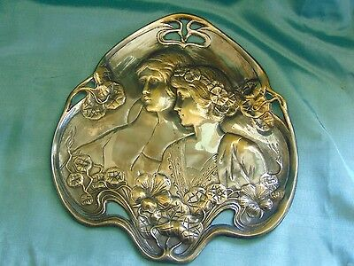 Art Nouveau Silver Plated Calling Card Tray - WMF? - Beautiful