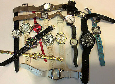 Lot of 15 womens watches,Guess,Massini,Foci and more, for parts or repair   T161