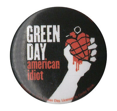 Green Day American Idiot v2 1 inch Button Pin Badge