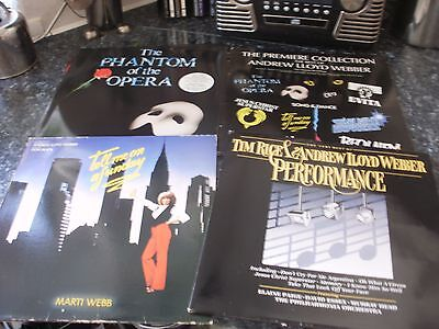 Andrew Lloyd Webber  – a collection of 4 lps vinyl in excellent condition
