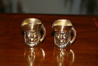 Nice Pair Of Toby Jugs Mugs Minature