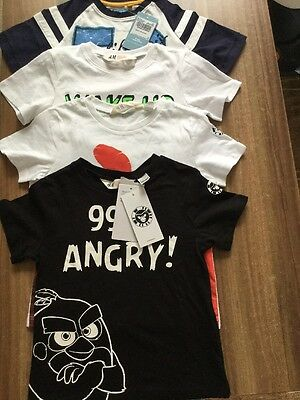 Boys t-shirts 2-4 years Brand New Angry Birds