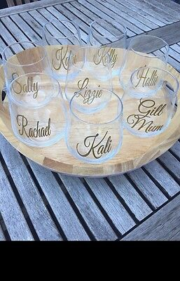 Personalised Vinyl - Diy Wedding - Champagne Glasses - Stickers - Bridesmaid