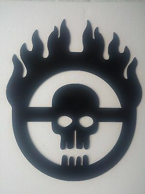 Fiery skull Mad Max home decor a metal