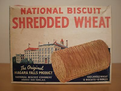 National Biscuit Shredded Wheat box  dated 1940 - SUPER GRAPHICS