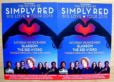Simply Red - Concert Flyer - Glasgow 2015