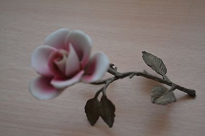 Ceramic Rose Petal on brass stem