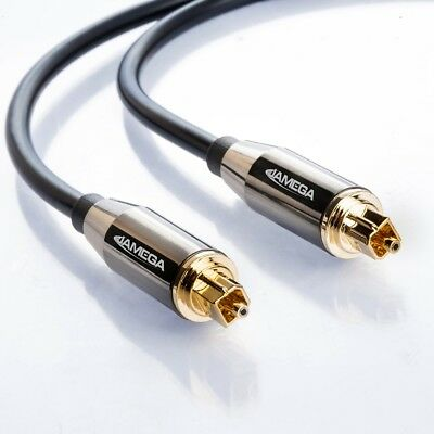 0,5m Toslink Premium HQ von JAMEGA | Optisches Audiokabel LWL SPDIF Digital