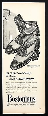 1952 Vintage Print Ad 1950s BOSTONIANS Foot Fashion Shoe Style
