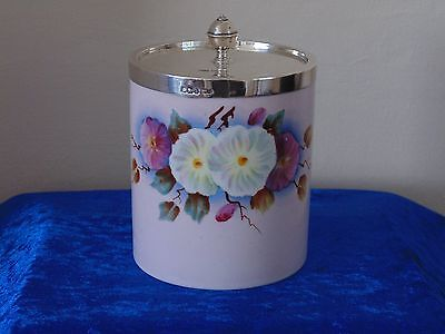 Antique Solid Silver And Porcelain Tea Caddy