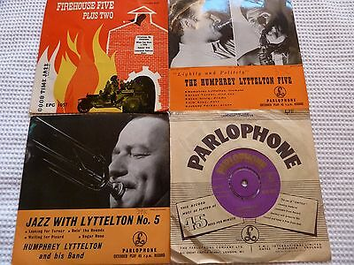 3 x Humphrey Lyttelton 1 x Firehouse Five 45rpm singles/Ep's Trad jazz Excellent