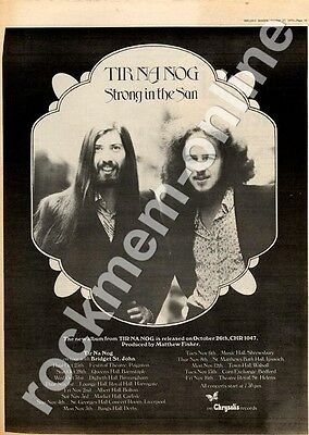 Tir Na Nog CHR 1047 Festival Theatre, Paignton MM3 LP/Tour advert 1973