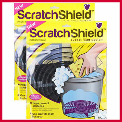 2 x Scratch Shield Grit Guard Universal Adjustable Car Wash Bucket Filters Black