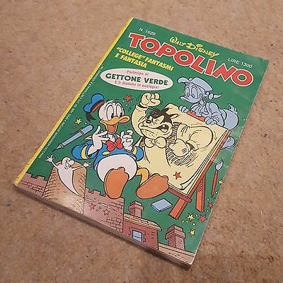 RARE! Italian 1987 Walt Disney TOPOLINO #1629 Comic Book Donald Duck Columbo