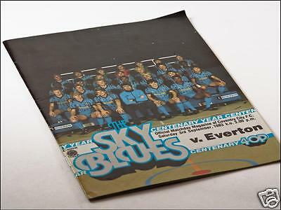 Coventry City v Everton FC 1983/4 First Division 03/09/83 Programme