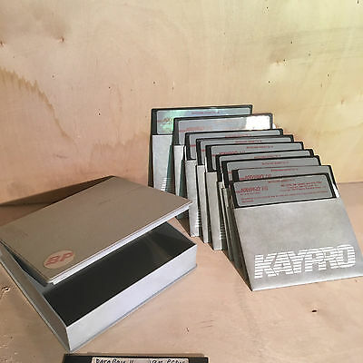 KAYPRO 16 Operating System and Utilities Discs - complete set of 9