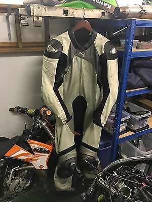 Dainese Puma Titanium Series 1 piece race suit with hump uk 44 euro 54